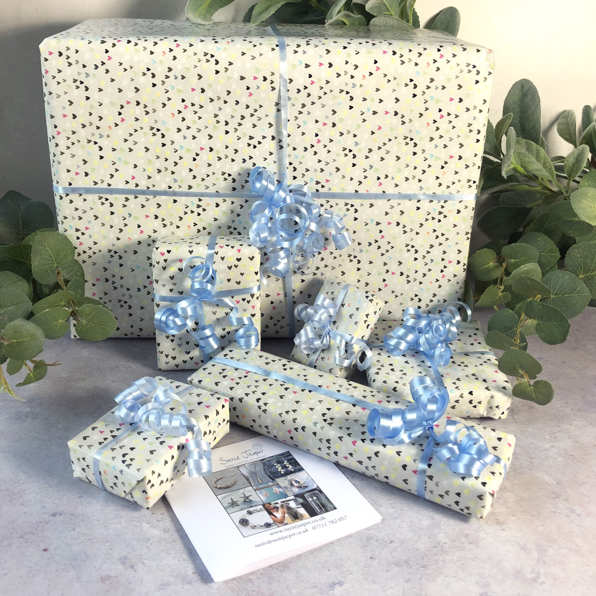Standard gift wrap with ribbon